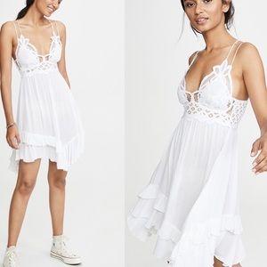 Free People White Adella Dress